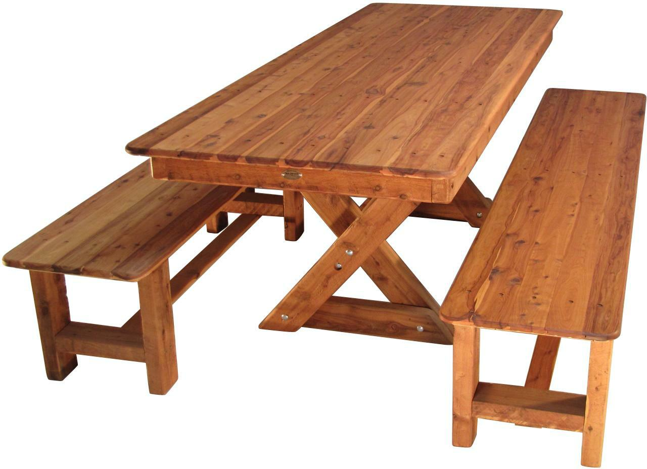 107 Table With 6 Benches